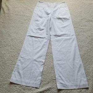 Tommy Hilfiger Women 100% Cotton White Pants